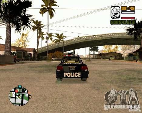 Полицейская тачка из NFS: MW для GTA San Andreas вид справа