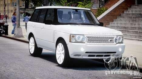 Range Rover Supercharged 2009 v2.0 для GTA 4 вид сзади