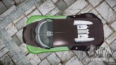 Bugatti Veyron 16.4 для GTA 4 вид справа