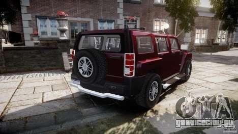 Hummer H3 для GTA 4 вид сзади слева