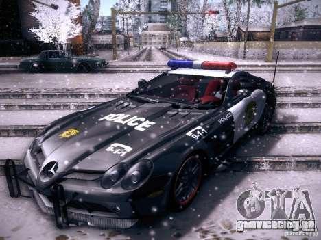 Mercedes-Benz SRL 722 Police для GTA San Andreas вид сзади слева
