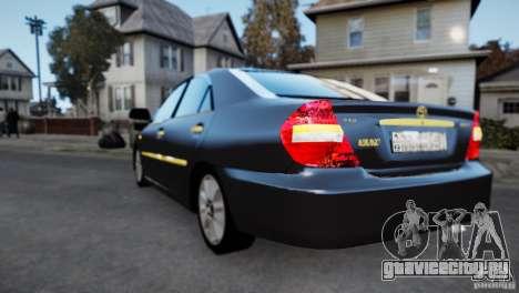Toyota Camry 2004 для GTA 4 вид сзади слева