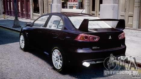 Mitsubishi Lancer X для GTA 4 вид сбоку