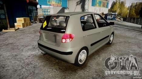 Hyundai Getz 2005 для GTA 4 вид изнутри