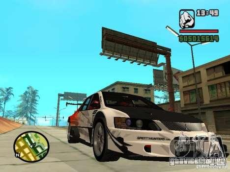 Mitsubishi Lancer Evo IX SpeedHunters Edition для GTA San Andreas вид сзади