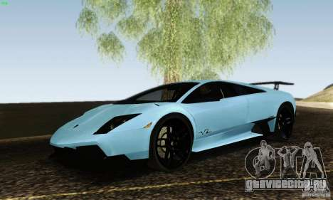 Lamborghini Murcielago LP 670-4 SV для GTA San Andreas вид сзади слева