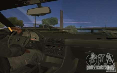 BMW 525 E34 V.3 для GTA San Andreas вид сзади слева