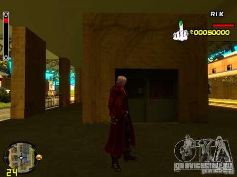 Данте для GTA San Andreas второй скриншот