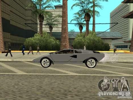 Lamborghini Countach LP400 для GTA San Andreas вид сзади слева