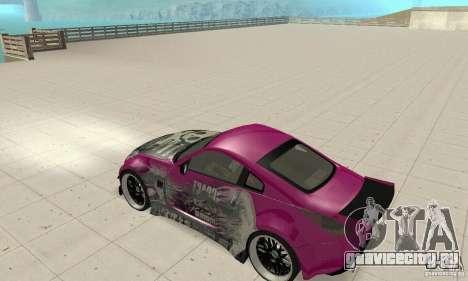 Nissan 350Z Tuning для GTA San Andreas вид сзади