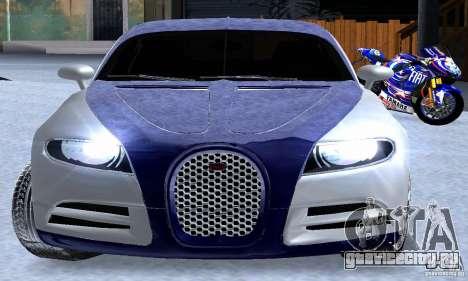 Bugatti Galibier 16c для GTA San Andreas вид сверху