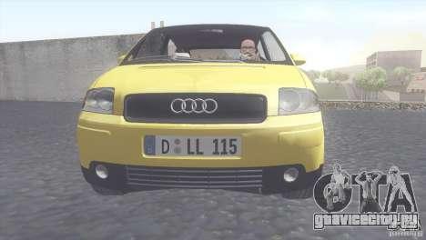 Audi A2 для GTA San Andreas вид сзади слева
