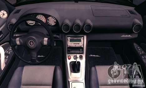 Nissan Silvia s15 tunable для GTA San Andreas вид сверху