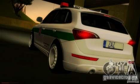 Audi Q5 TDi - Policija для GTA San Andreas вид сзади слева