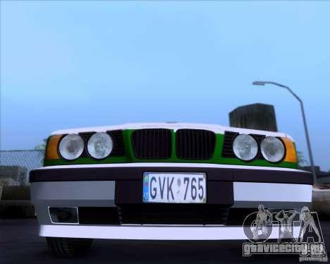 BMW E34 Policija для GTA San Andreas вид слева