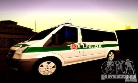 Ford Transit Policija для GTA San Andreas вид сбоку
