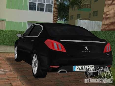 Peugeot 508 e-HDi 2011 для GTA Vice City вид слева