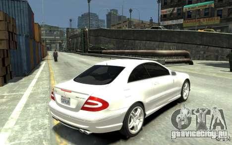 Mercedes-Benz CLK55 AMG 2003 v1 для GTA 4 вид справа