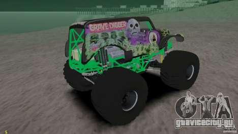 Grave digger для GTA 4 вид сзади слева