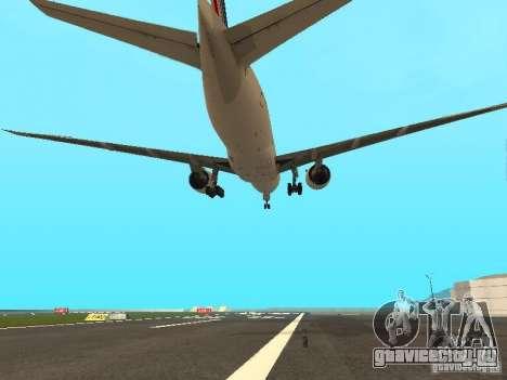 Boeing 777-200 Air France для GTA San Andreas вид сбоку