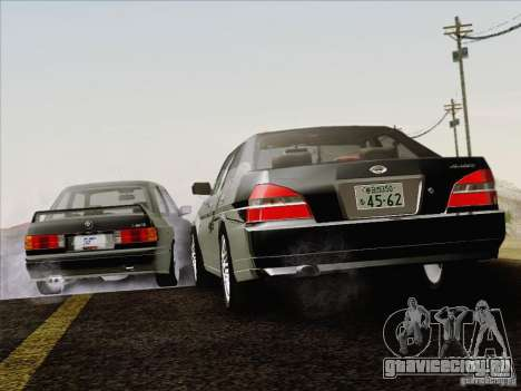 Nissan Laurel GC35 Kouki Unmarked Police Car для GTA San Andreas вид сверху