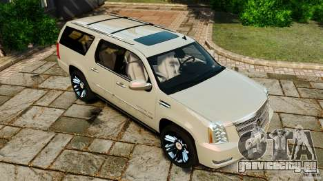 Cadillac Escalade ESV 2012 для GTA 4 вид снизу