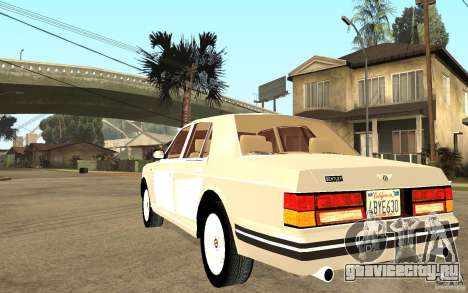 Bentley Turbo RT для GTA San Andreas вид сзади слева