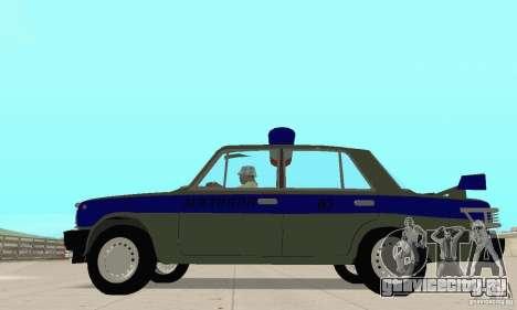 ВАЗ 2101 Милиция для GTA San Andreas вид справа