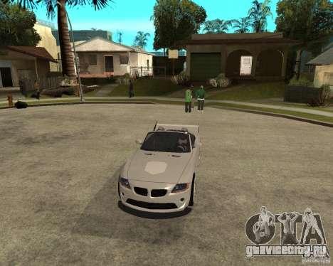 BMW Z4 Supreme Pimp TUNING volume II для GTA San Andreas вид изнутри