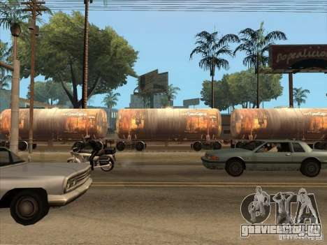 Товарные вагоны 2 для GTA San Andreas вид сзади