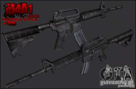 Colt M4A1 Commando Silenced для GTA San Andreas второй скриншот