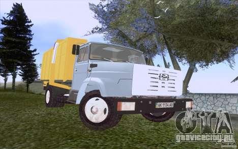 ЗиЛ 4331 Мусоровоз для GTA San Andreas вид слева