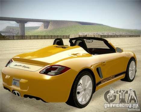 Porsche Boxter Spyder для GTA San Andreas вид сзади слева