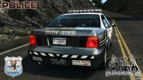 LCPD K9 Unit для GTA 4 вид сзади слева