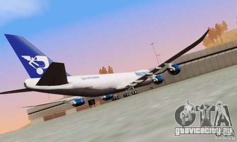 Boeing 747-8F для GTA San Andreas вид сзади
