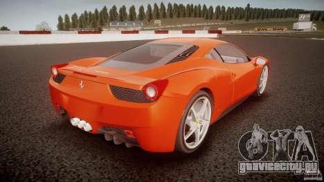 Ferrari 458 Italia 2010 для GTA 4 вид сзади слева