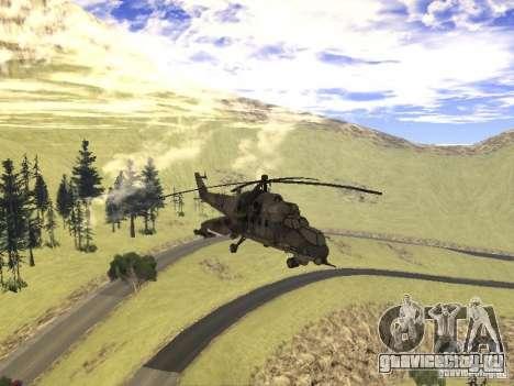 Ми-24 из COD MW 2 для GTA San Andreas вид изнутри