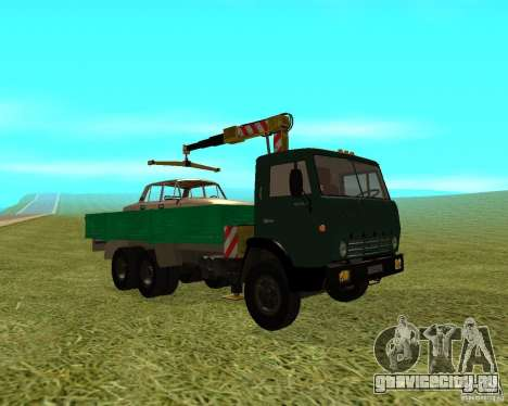 КАМАЗ 53212 манипулятор для GTA San Andreas вид справа