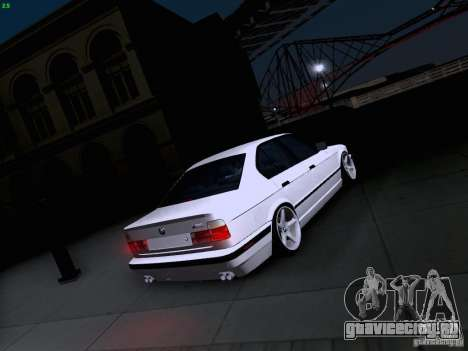 BMW M5 E34 Stance для GTA San Andreas вид сбоку