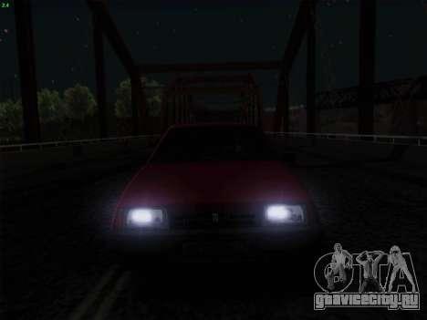 ВАЗ 21083i для GTA San Andreas вид снизу