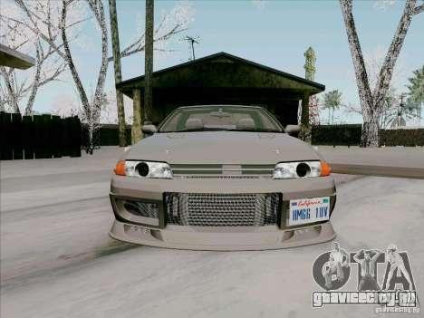 Nissan Skyline GTS-T для GTA San Andreas вид изнутри