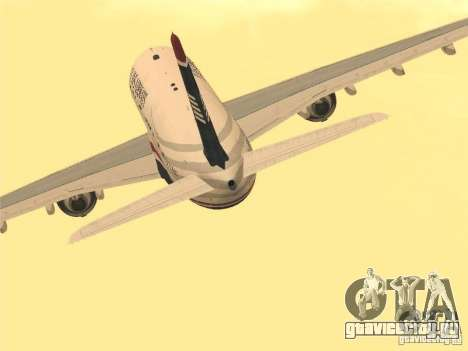 Airbus A330-300 US Airways для GTA San Andreas вид сзади