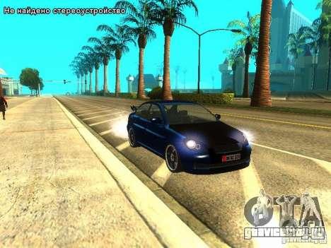 Hyundai Accent Era для GTA San Andreas вид сзади слева