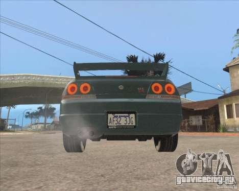 Nissan Skyline GT-R BNR33 для GTA San Andreas вид сзади
