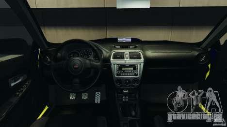 Subaru Impreza British ANPR [ELS] для GTA 4 вид сзади