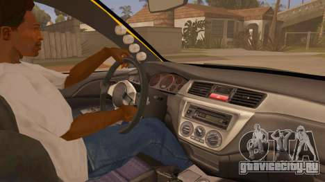 Mitsubishi Lancer Evolution IX Wagon MR Drift для GTA San Andreas вид сзади