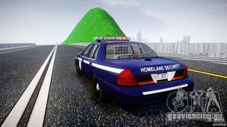 Ford Crown Victoria Homeland Security [ELS] для GTA 4 вид сзади слева