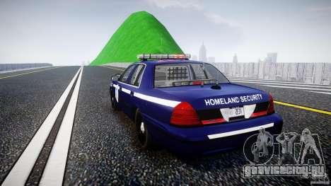 Ford Crown Victoria Homeland Security [ELS] для GTA 4 вид сзади слева