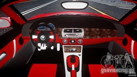 BMW Z4 Roadster 2007 i3.0 Final для GTA 4 вид справа