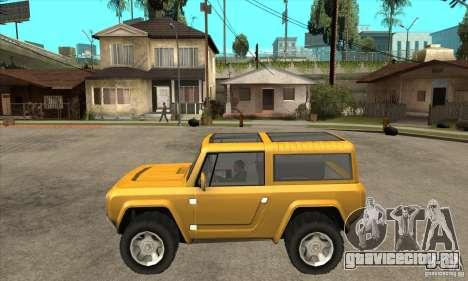 Ford Bronco Concept для GTA San Andreas вид слева